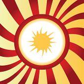 pic of starburst  - Yellow icon with image of starburst - JPG