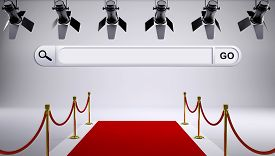 image of soffit  - Red carpet and search field with soffits and red rope - JPG