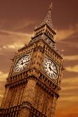 pic of big-ben  - big ben at sunset in the heart of london - JPG