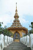 Постер, плакат: Лестница на буддийский храм