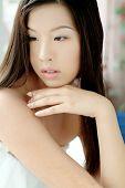 Cute Asian Girl In A Towel poster