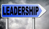 leadership follow team leader or way to success concept business leader or market leader business co poster