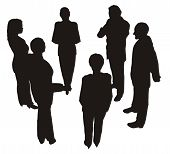 image of person silhouette  - black silhouette of the business people team - JPG