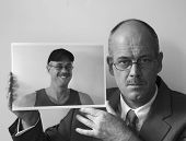 image of b-double  - Selfportrait of Erik de Graaf in B  - JPG