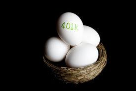 picture of nest-egg  - 401k nest egg retirement hard key light - JPG