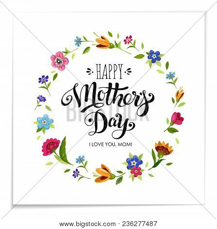 Realistic Happy Mothers Day Holiday