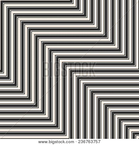 vector geometric zigzag lines seamless pattern modern abstract
