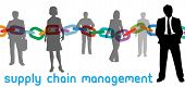 picture of supply chain  - Enterprise SCM manager and outsourcing supply chain management business people - JPG