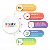 Business Data Visualization. Process Chart. Abstract Elements Of Graph, Diagram With 4 Steps, Option poster