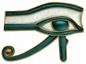 image of hieroglyphic symbol  - Illustration of the ancient Egyptian Eye of Horus symbol - JPG