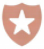 Guard Halftone Vector Icon. Illustration Style Is Dotted Iconic Guard Icon Symbol On A White Backgro poster