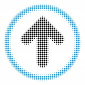Rounded Arrow Halftone Vector Pictogram. Illustration Style Is Dotted Iconic Rounded Arrow Icon Symb poster