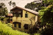 Old Two-storey Peasant House. Old Two-storey House In Port Blair Andaman Islands India. Typical Midd poster