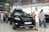 Kiev - September 11:  Toyota Rav4 At Yearly Automotive-show