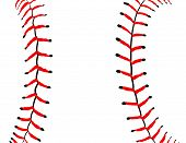 foto of throw up  - Baseball Seams Close Up  - JPG