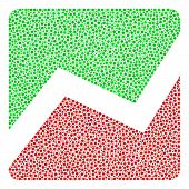 Analytics Chart Collage Of Dots In Variable Sizes And Color Hues. Dots Are United Into Analytics Cha poster