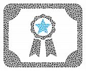 Diploma Collage Of Round Dots In Various Sizes And Color Hues. Small Circles Are Grouped Into Diplom poster
