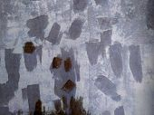 The Material Is Covered With Putty. Gray Surface With Traces Of Spatula. poster