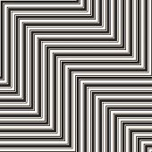 Vector Geometric Zigzag Lines Seamless Pattern. Modern Abstract Black And White Striped Background.  poster