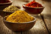 stock photo of saffron  - Spices Curry - JPG