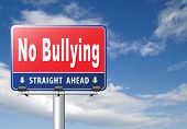 Bully free zone, Stop bullying at school or at work stopping or online. 3D, illustration   poster