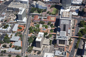 picture of pima  - Aerial view of the Center of Downtown Tucson Arizona - JPG