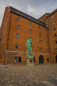 Copenhagen, Denmark: The Monument Of The Sculptor Michelangelos David, Building Of Royal Cast Colle poster