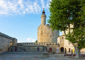 stock photo of reign  - The Constance Tower completed in 1248 is all that remains of the castle built in Louis IX - JPG