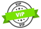 Vip Label. Vip Green Band Sign. Vip poster