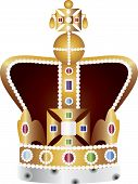 English Coronation Crown Jewels Illustration