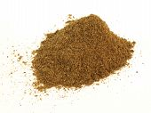 foto of garam masala  - Heap of garam masala spice on white background - JPG