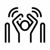Man Not Passed Warning Signal Sensors Icon Vector. Outline Man Not Passed Warning Signal Sensors Sig poster