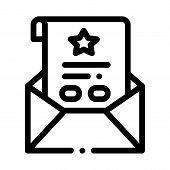 Bonus Sheet Letter Icon Vector. Outline Bonus Sheet Letter Sign. Isolated Contour Symbol Illustratio poster
