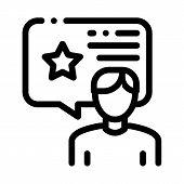 Man Bonus Consultant Icon Vector. Outline Man Bonus Consultant Sign. Isolated Contour Symbol Illustr poster