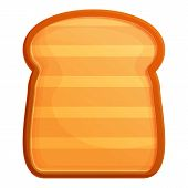 Toaster Toast Icon. Cartoon Of Toaster Toast Vector Icon For Web Design Isolated On White Background poster