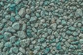 Texture Rocks. Gray Rock Seamless Texture, Big Rocks, Wall Background. poster