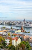 Amazing Skyline Of Budapest, Hungary. Hungarian Parliament Building, Orszaghaz, In The Background On poster