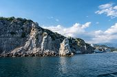 Rocky Coast On The Southern Coast Of Crimea In The Yalta Region On A Sunny Day. poster