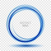 Abstract Vector Background Round Blue Wavy Circle Shape Lines Circles Transparent Wave Frame.vector  poster