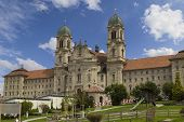 17.08.19. Einsiedeln Abbey  Is  Benedictine Monastery, Canton Of Schwyz, Switzerland. The Main Pilgr poster