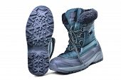 Insulated Off-road Boots For The Cold Season, High Shin, Lacing, Anti-slip Grooved Sole For Travel A poster