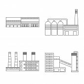 Vector Design Of Manufacturing And Company Symbol. Set Of Manufacturing And Structure Stock Symbol F poster