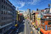 NEW YORK CITY - MAY 13: East Broadway in Chinatown May 13, 2012 in New York, NY. It is the largest a