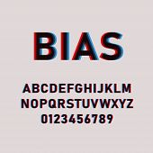 Bias Font. Font Offset. Font Glitch Isolated On A Light Background. Modern Style. Vector Illustratio poster