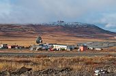stock photo of chukotka  - Abandoned military station of Soviet troops in Anadyr town - JPG