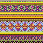 stock photo of mexican  - vector seamless background with a mexican pattern - JPG