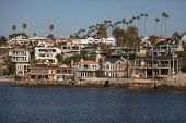 image of beachfront  - Beachfront houses in Newport Beach - JPG