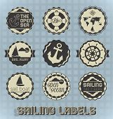 Vector Set: Vintage Sailing Labels