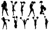 foto of siluet  - Cheerleaders vectors from my sports vectors collection - JPG