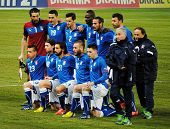 GENEVA, SWITZERLAND - MARCH 21, 2013: Italian national soccer team poses before the friendly match b